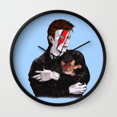 David & The cat Wall Clock