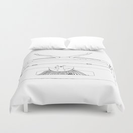 typewriter Duvet Cover