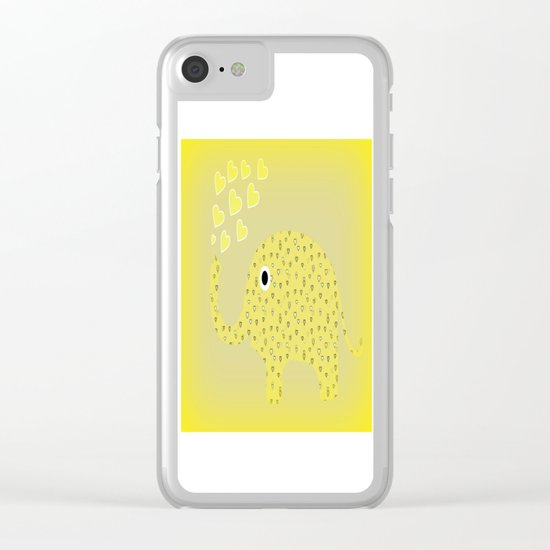 I Love Elephants Clear iPhone Case