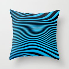 Stripes in Blue Throw Pillow
