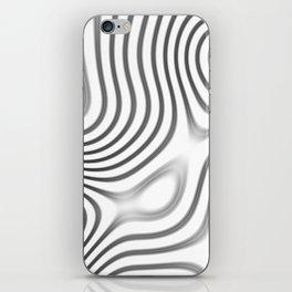 Organic Abstract 01 WHITE iPhone Skin