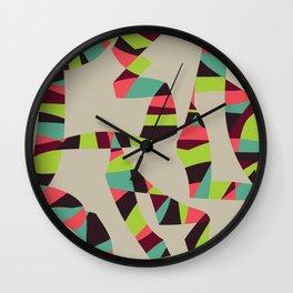 Abstract Vintage Art Wall Clock