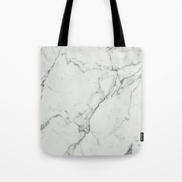 White Marble Texture. Tote Bag
