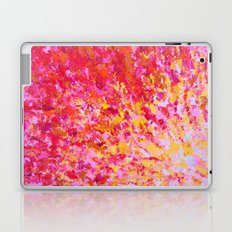 ROMANTIC DAYS - Lovely Sweet Romance, Valentine's Day Sweetheart Pink Red Abstract Acrylic Painting Laptop & iPad Skin