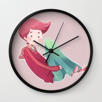 gumball Wall Clocks featuring Prince Gumball by Sei00