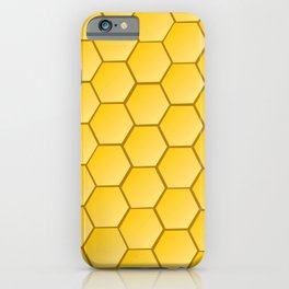 Honeycomb pattern, natural iPhone Case