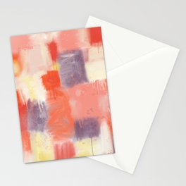 City Sunset Geometric Abstract Painting Stationery Cards