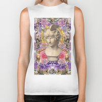 holographic Biker Tanks featuring mercury dreams of amethyst olympus by STORMYMADE