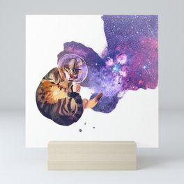 Catstronaut Mini Art Print
