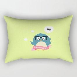 Nerd Bird on Shirt T-Shirt for Women, Men and Kids Rectangular Pillow