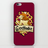 gryffindor iPhone & iPod Skins featuring Gryffindor Crest by AriesNamarie