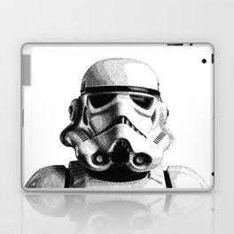 Stormtrooper Hand Drawn Dotwork - StarWars Pointillism Artwork Laptop & iPad Skin