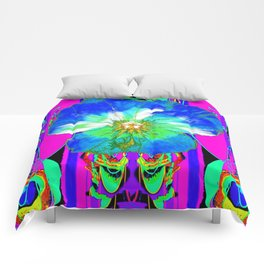Purple Pansy Garden Fantsy Abstract Comforters
