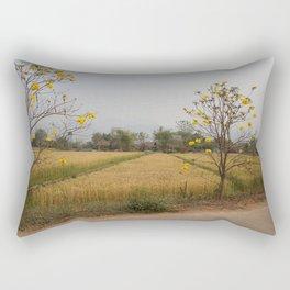 Yellow Flower Rectangular Pillow
