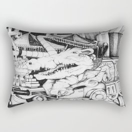 Crocodile Gamblin' Man Rectangular Pillow