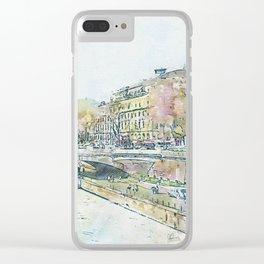 La Seine 5 by Jennifer Berdy Clear iPhone Case