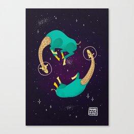 Space Giraffes Canvas Print