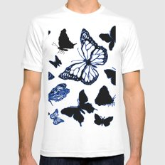Butterfly ink White MEDIUM Mens Fitted Tee