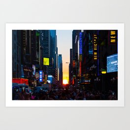 Manhattanhenge - New York Art Print