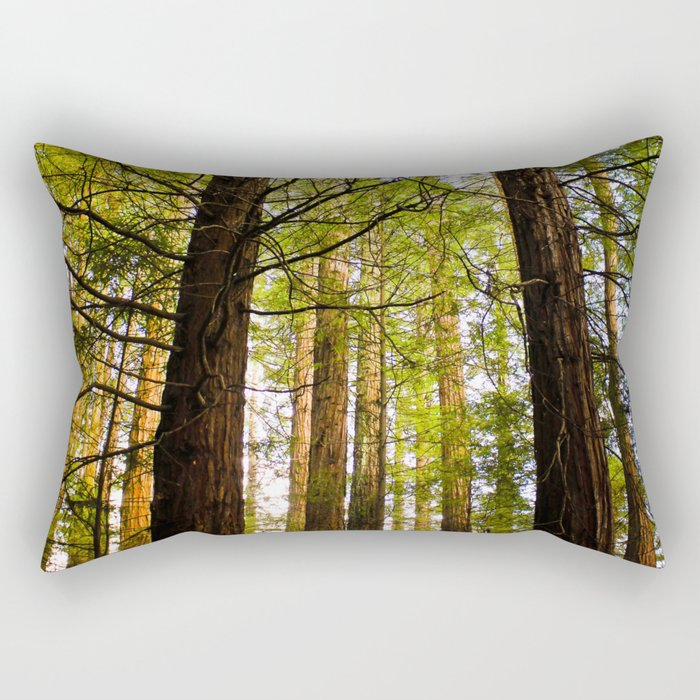 Within The Redwoods Rectangular Pillow