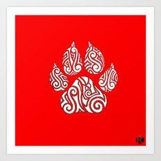 Tribal Tiger Paw Art Print