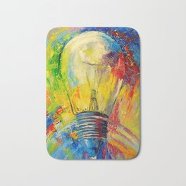 Light bulb Bath Mat