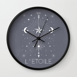 L'Etoile or The Star Wall Clock
