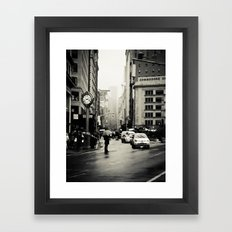 New York City - 5th Avenue in the Rain Framed Art Print
