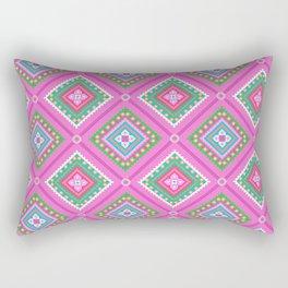 Pink Thai Rectangular Pillow