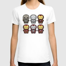 Chibi-Fi Iron Man Movie Armory T-shirt