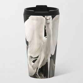 White bird dance 1 Travel Mug