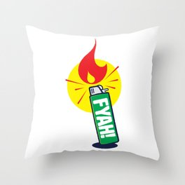 Fyah! Throw Pillow