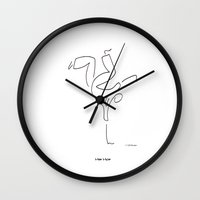 hip hop Wall Clocks featuring Hip Hop by Charlie Bowen
