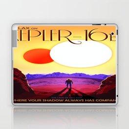 Vintage poster - Kepler-16b Laptop & iPad Skin