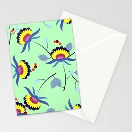 Multicolored floral pattern Stationery Cards