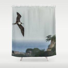 Lesser Frigatebird Over Antigua Shower Curtain