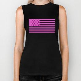 U.S. Flag: Pink Biker Tank