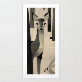 Old Woods Deer Art Print