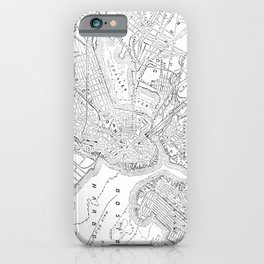Vintage Map of Boston (1878) iPhone Case
