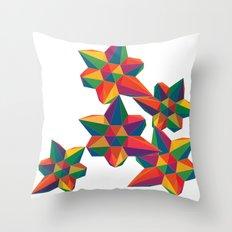 Hexagon Explosion Throw Pillow