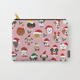 Christmas Dog Pattern Illustration Carry-All Pouch