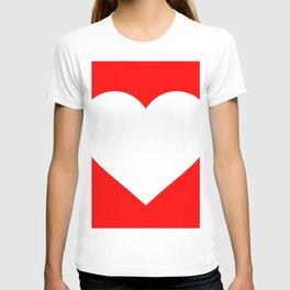 Heart (White & Red) T-shirt