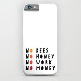 No Bees No Honey No Work No Money iPhone Case