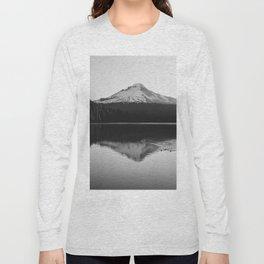 Wild Mountain Sunrise - Black and White Nature Photography Long Sleeve T-shirt