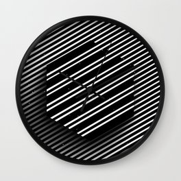 Hexagon of striped lines Wall Clock