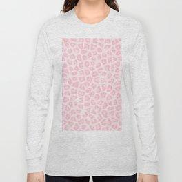 Girly blush pink white abstract animal print Long Sleeve T-shirt