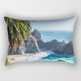 Breathtaking tropical beach with rocks Rectangular Pillow