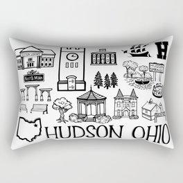Hudson Ohio Map Rectangular Pillow
