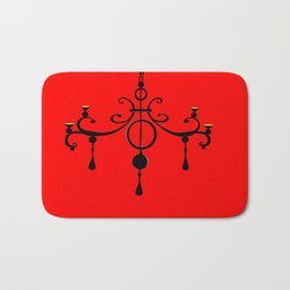 A Chandler with red background Bath Mat
