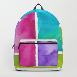 180811 Watercolor Block Swatches 8| Colorful Abstract |Geometrical Art Backpack